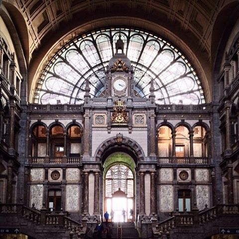 Great pic herbertschroer  how beautiful is Antwerp Central Station?hellip