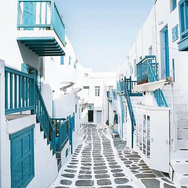 The back streets of Mykonos Greece brought to you byhellip